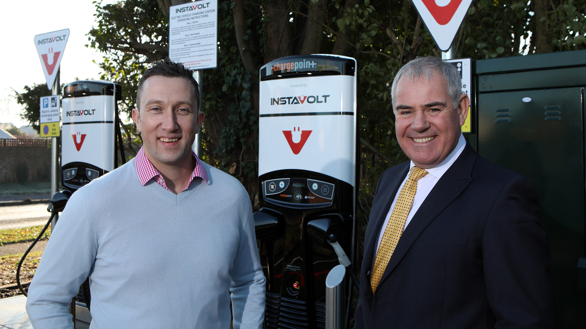 Rusdene Services managing director, Oli Lodge (left) with Tim Payne, CEO of InstaVolt